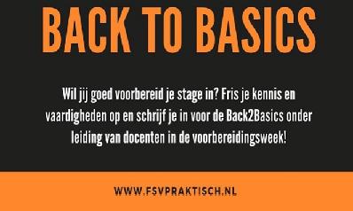 Back 2 Basics - Donderdag